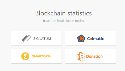 Cryptocurrency blockchains stats